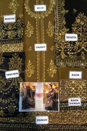 MARIA B Oxidized Gold & Black (BD-1508) Chiffon Master Replica