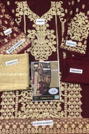 MARYAM & MARIA Sepia (Fmm-404) Chiffon Master Replica