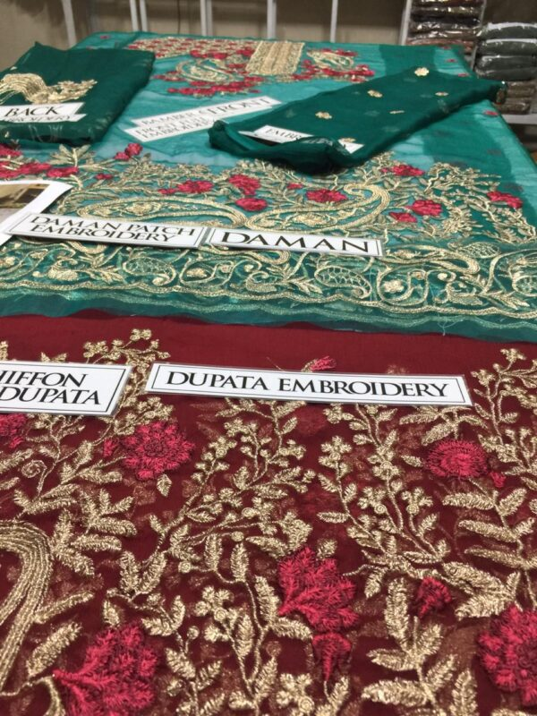 Serene Fiery emerald Bamber Chiffon Master Replica