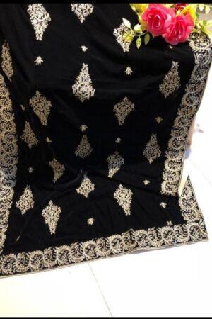 Designer Velvet Shawl Master Replica