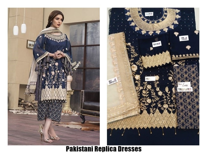 Simple Pakistani Replica Dresses Online