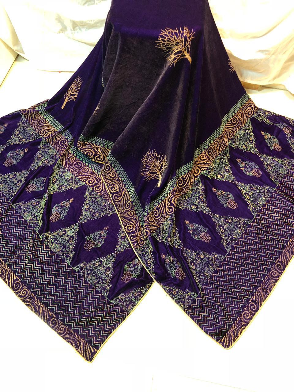 Exquisite Designer Velvet Shawl 2019 Master Copy Master Replica Pakistan