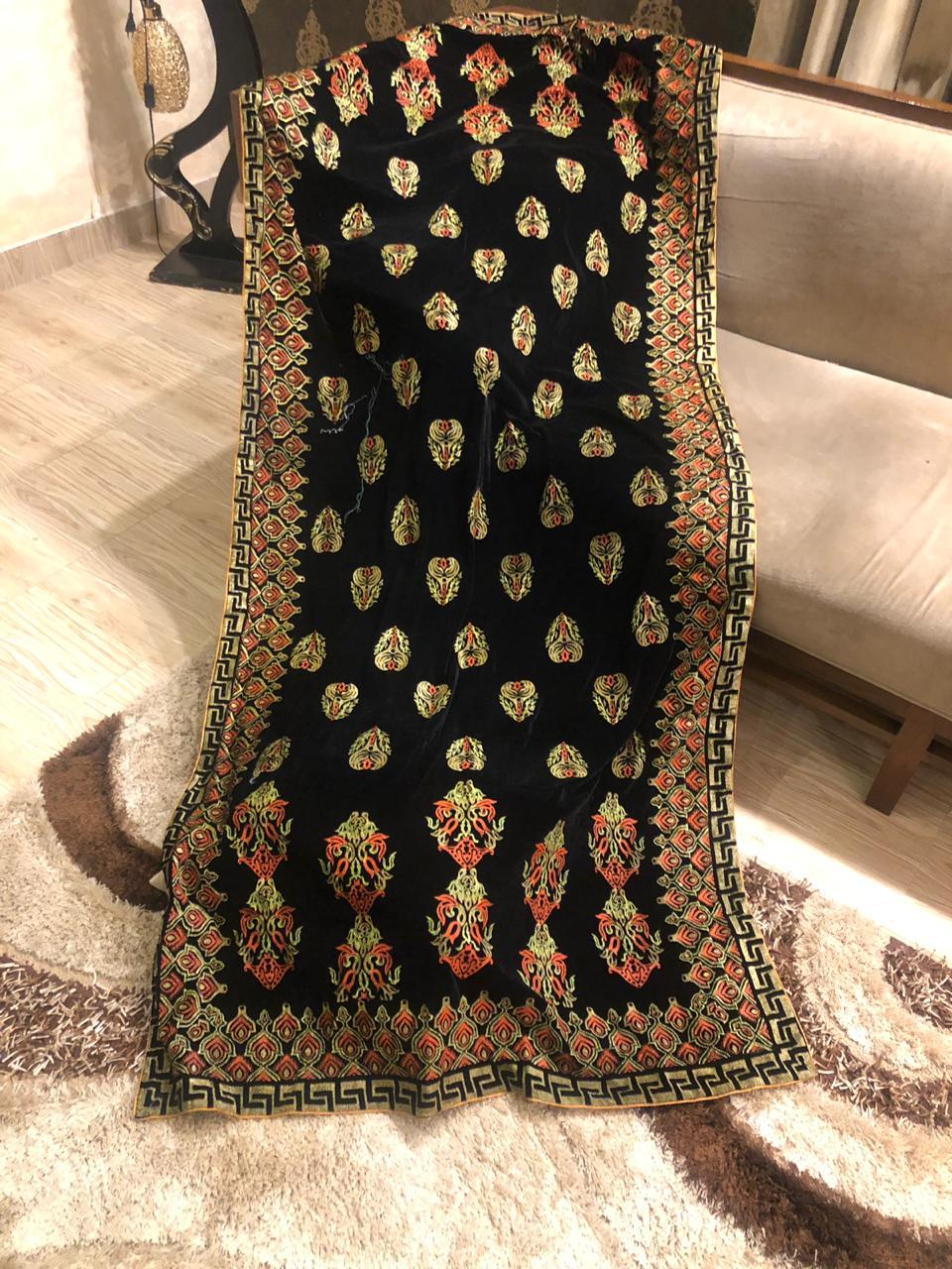 Elegant Designer Velvet Shawl Master Copy 2019 Master Replica Pakistan