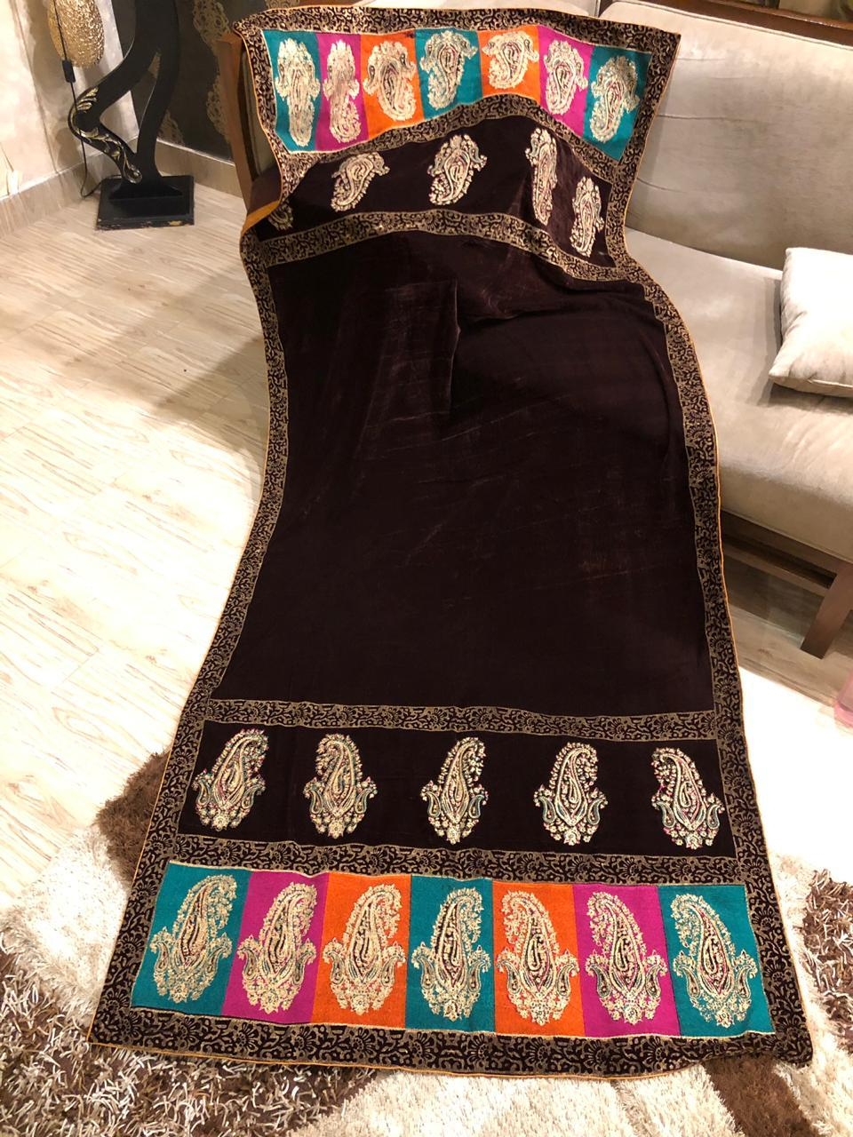 Stylish Designer Digital Printed Velvet Shawls Master Replica 2019 Master Replica Pakistan