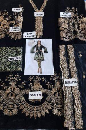 MINA HASSAN Velvet Dress