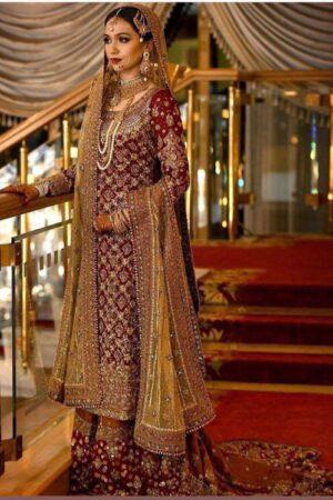 MARIA B Chiffon Bridal Dress