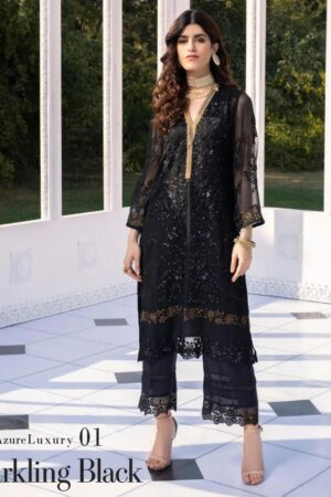 azure net black kurti