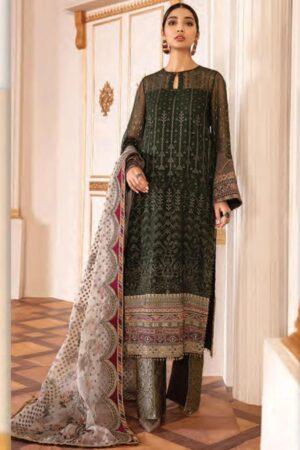 baroque green cotton dress