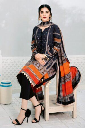black lawn dress design