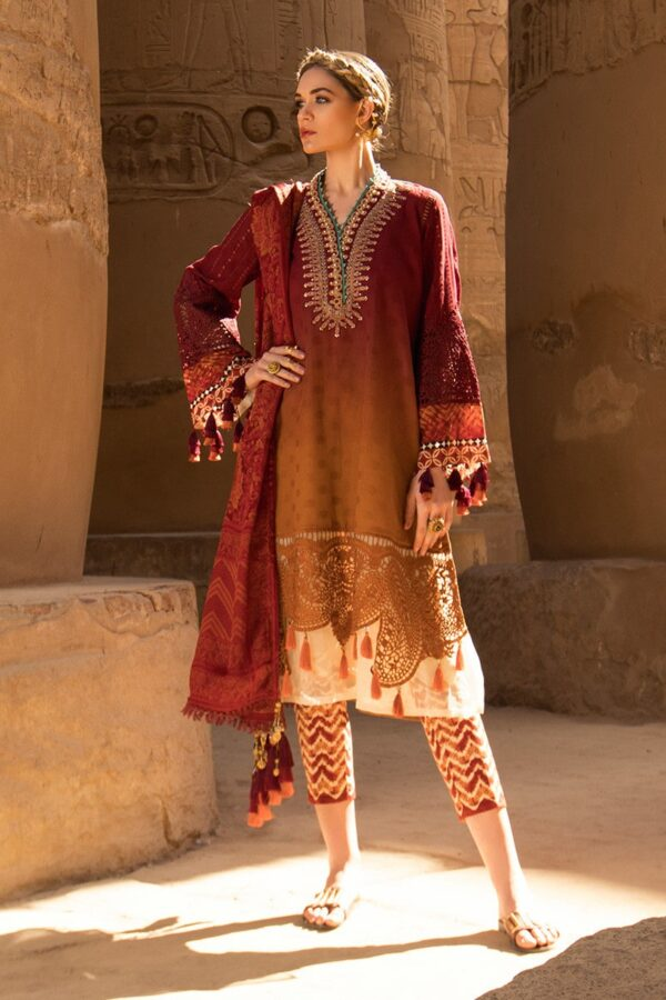 maria b orange dress