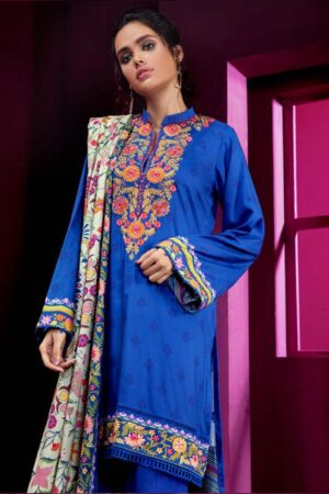 orient blue embroidered dress