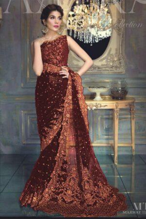 AAYRA Net Bridal Saree