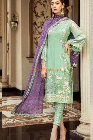 afrozeh green dress