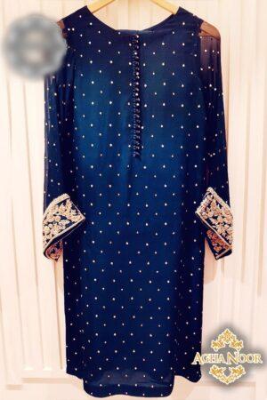 Agha Noor Blue dress