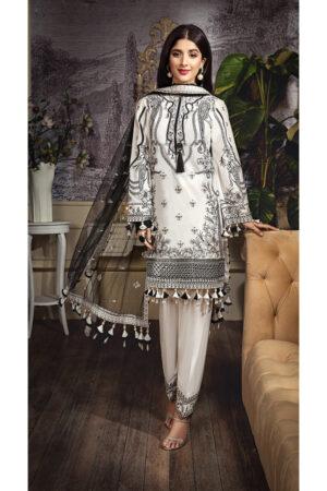 anaya lawn black and white dress