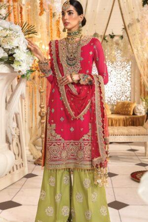 anaya pink wedding dress