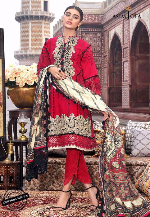 red pakistani casual dresses
