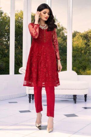 Azure chiffon dress