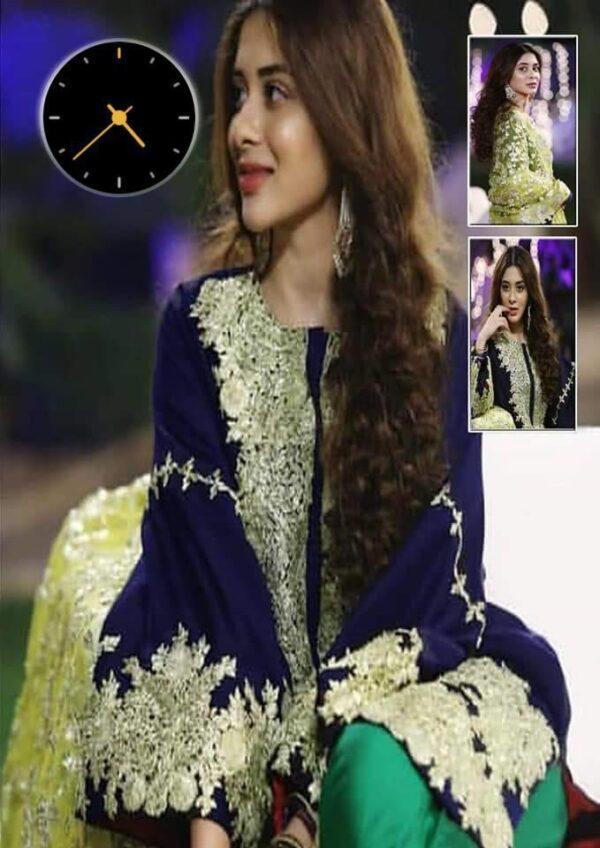 blue party wear salwar kameez suits