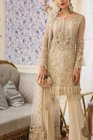 pakistani golden party wear