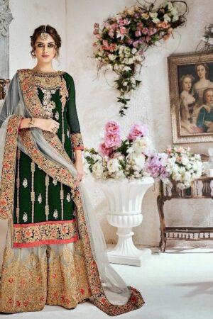 green wedding dress pakistani
