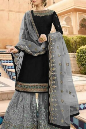 indian black and gray dress