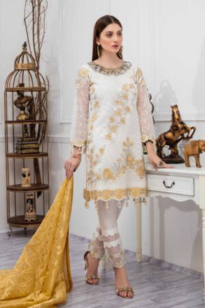 pakistani white party wear dresses