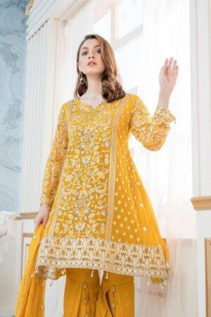 maryam and maria yellow dress