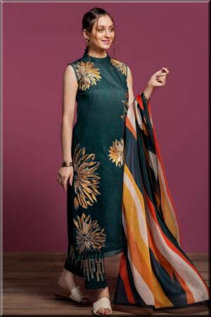 nishat green dress