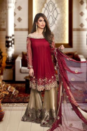 nomi ansari red party wear