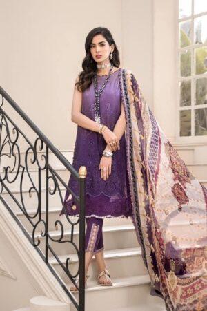 noor by saadia purple lawn dress