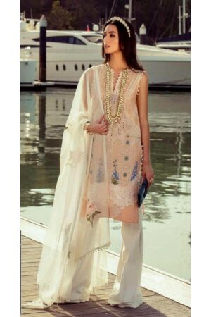sana safinaz peach dress