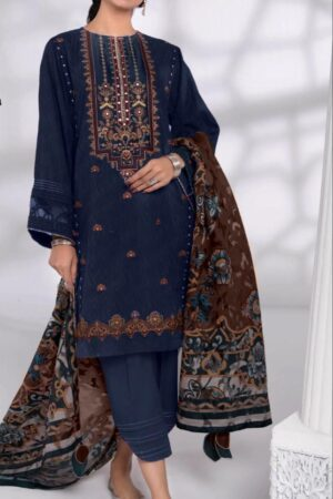 khaadi blue lawn collection 2020
