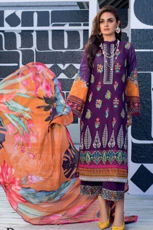 zainab chottani purple lawn suits