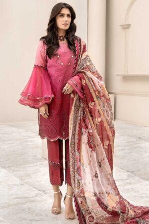 noor by saadia pink lawn dress